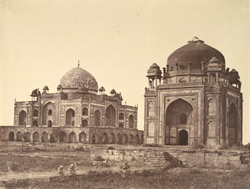 Humayon's Tomb, Delhi [with the Barber's Tomb (?) in the foreground].